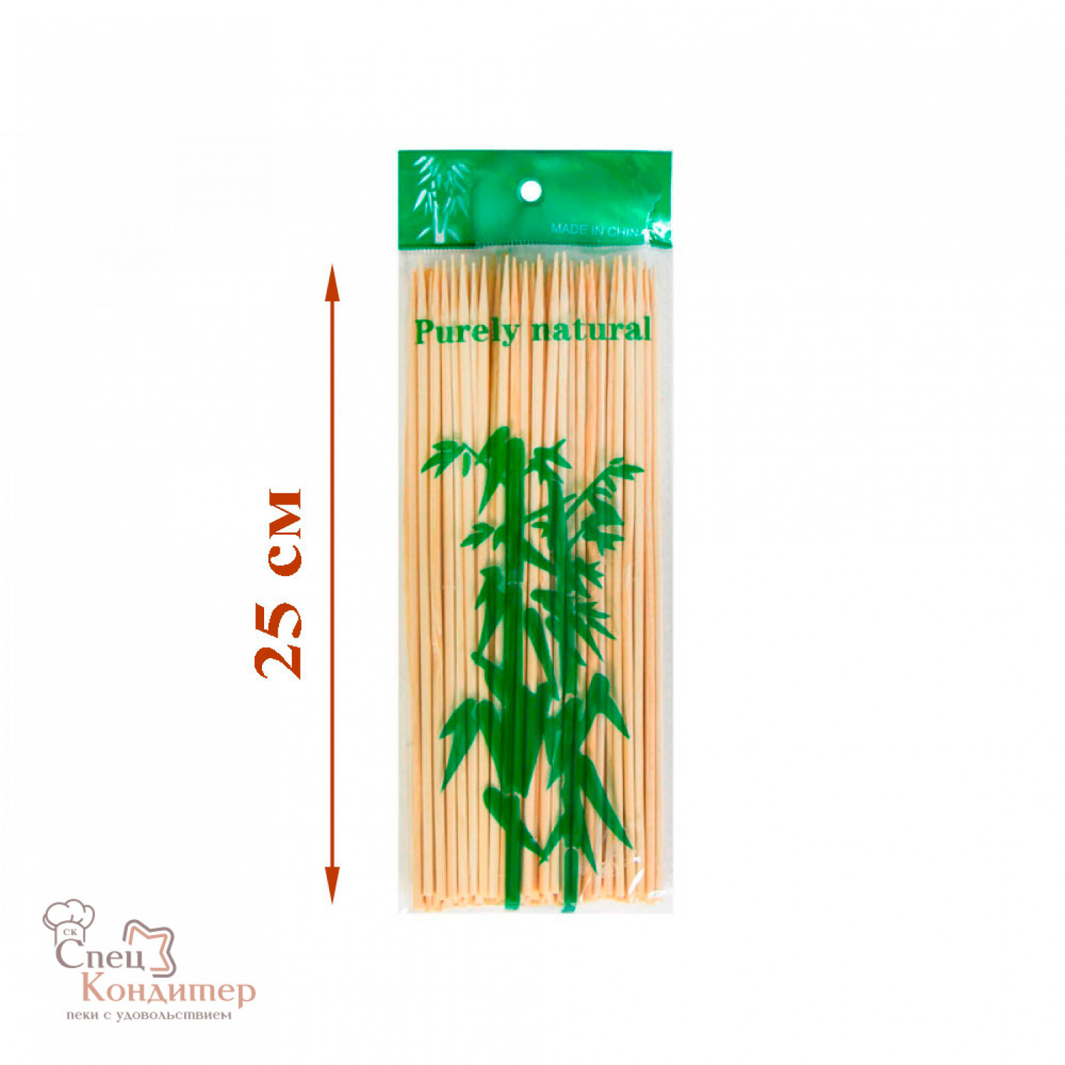 Шампур д/шашлыка бамбук 25см 100шт/уп