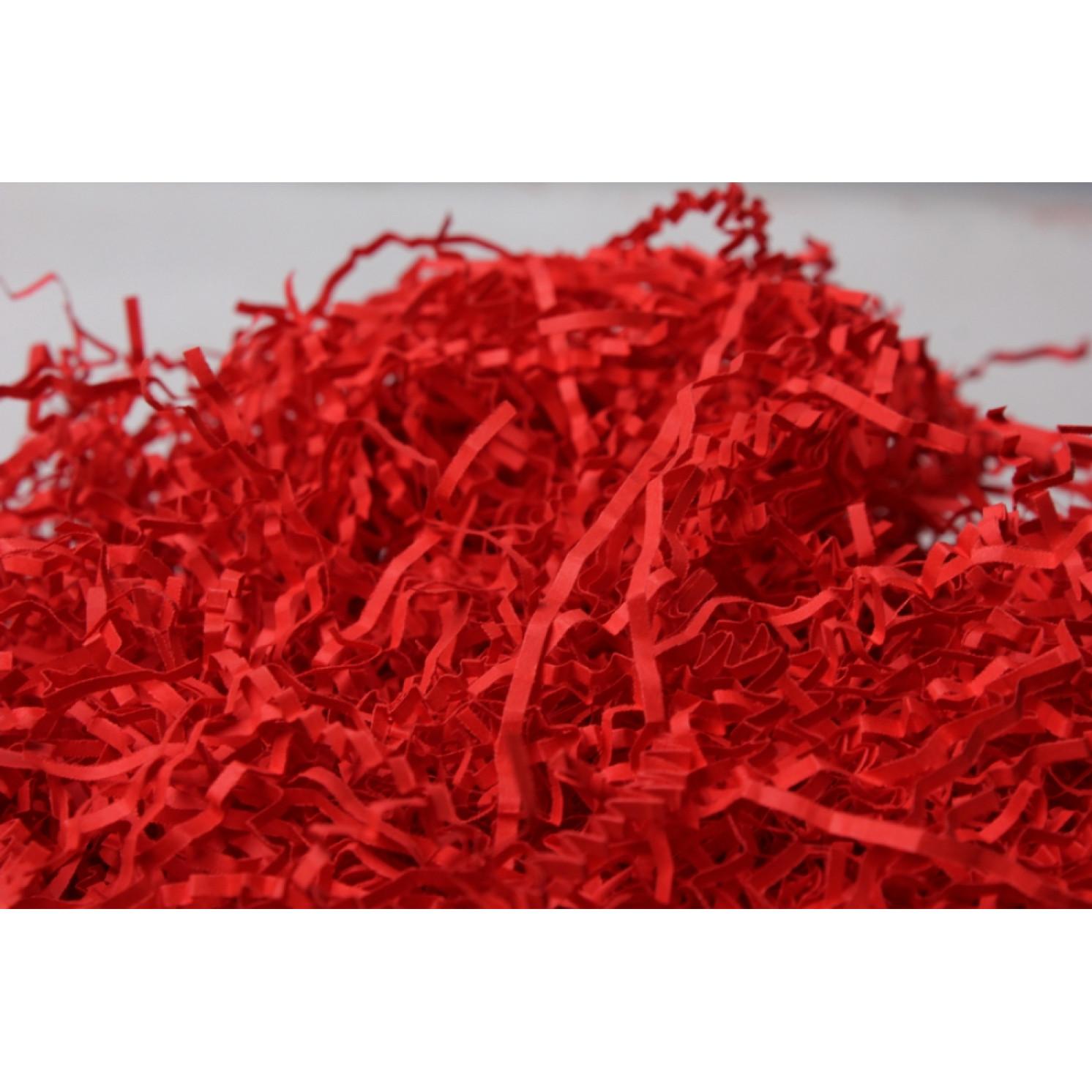 Наполнитель Бумажный Коралово-красный, фасовка 100 г