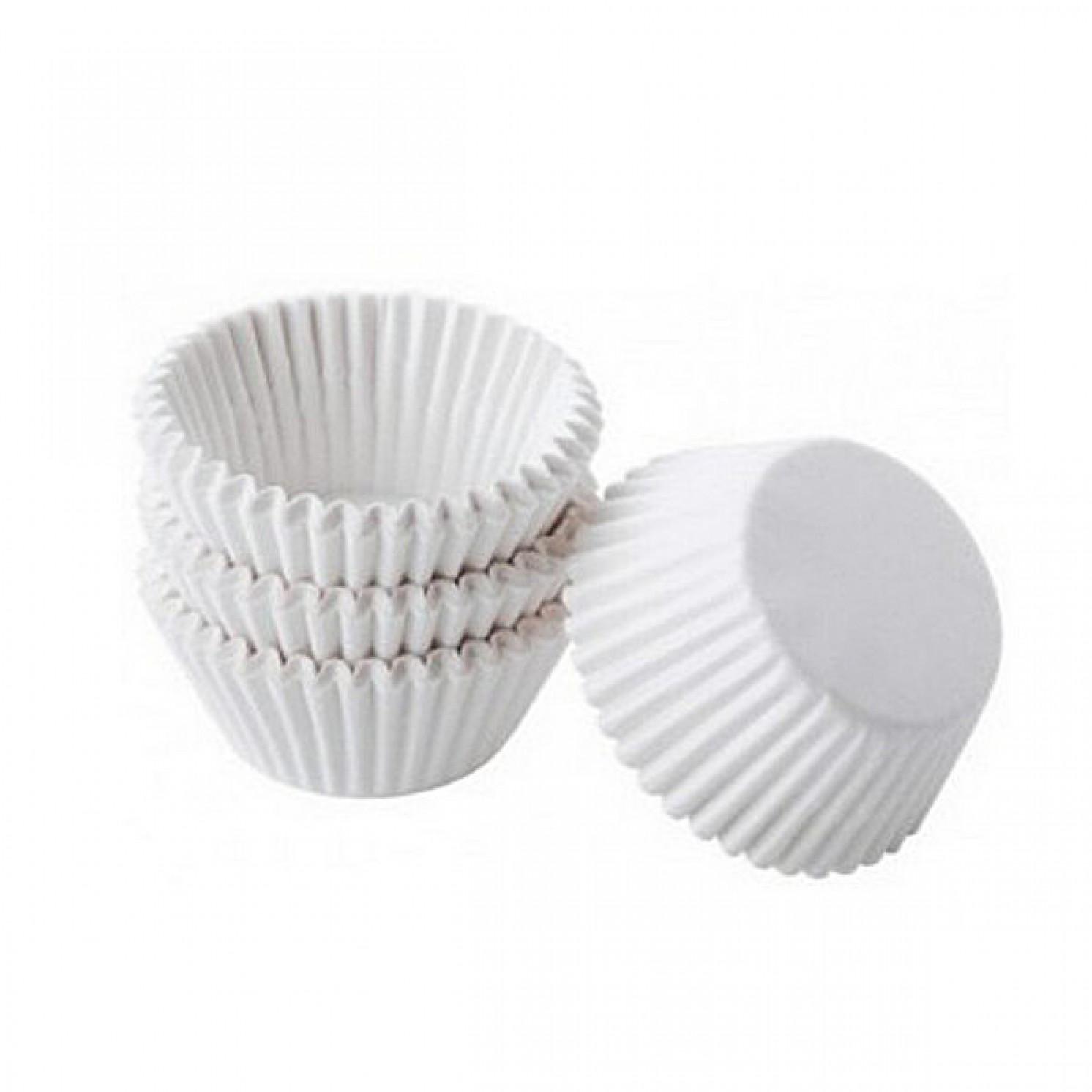 Бумажная форма для пирожных, круглые, белые 20*35, 100 шт/уп.