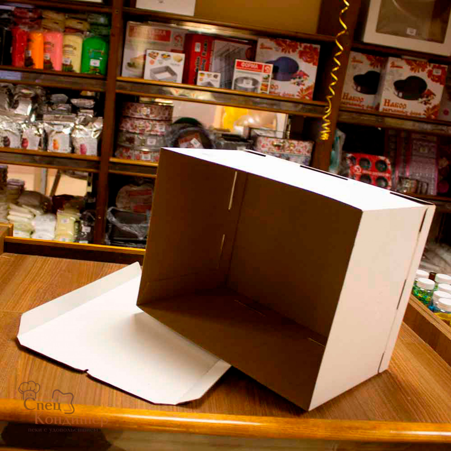 Короб картонный белый 300х400х260 мм
