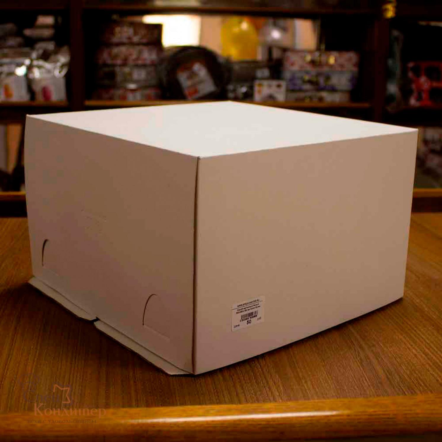 Короб картонный белый 300х300х190 мм