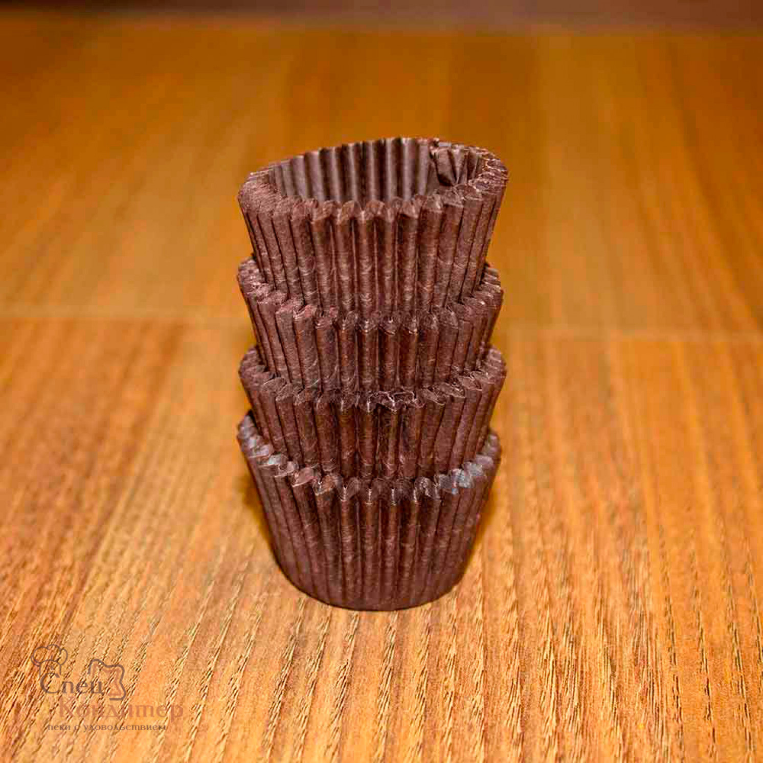 Тарталетки круг 3В (коричневая), 30*24 мм, 100 шт/уп.