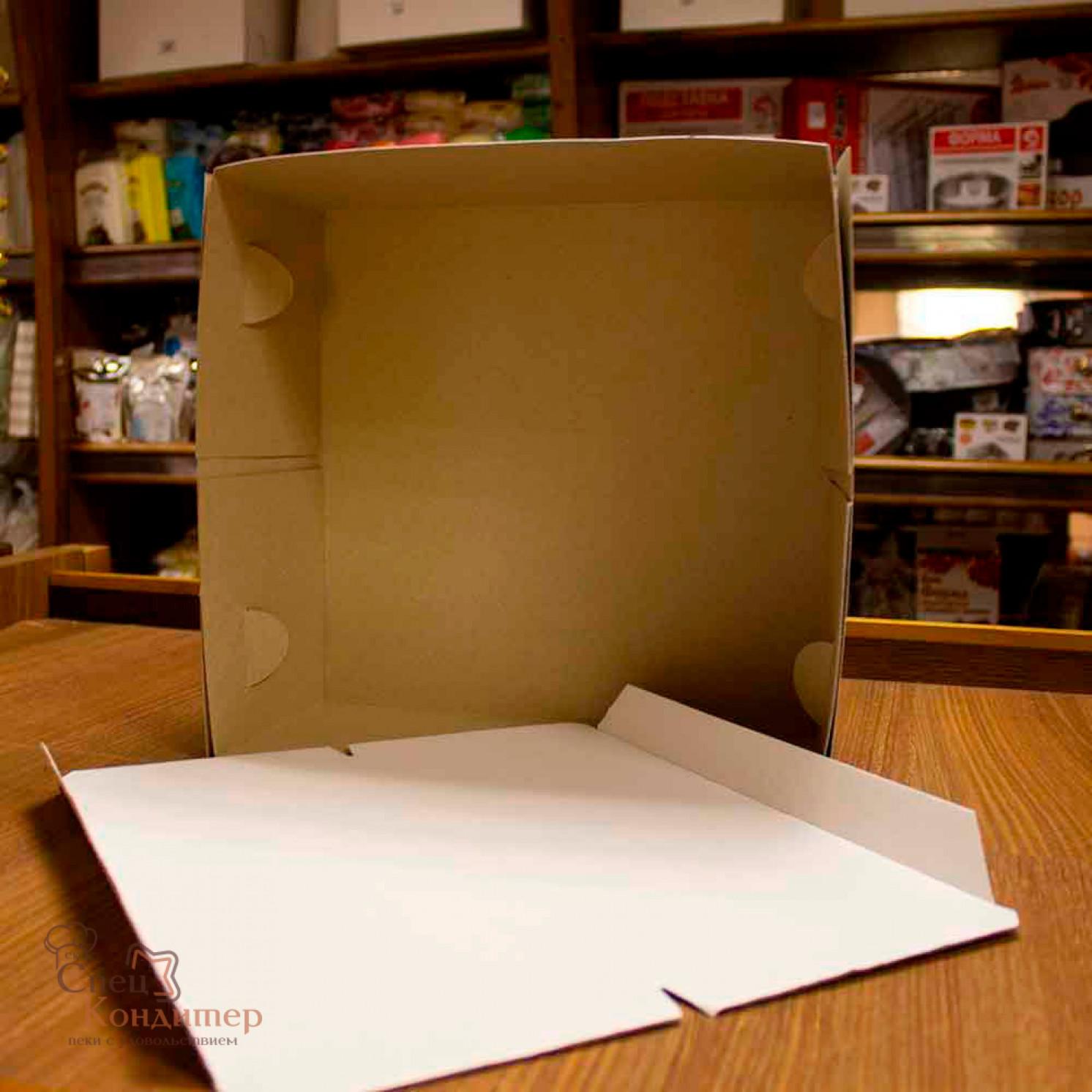 Короб картонный белый 280х280х140 мм