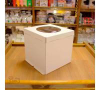 Короб картонный белый С ОКНОМ 300х300х300мм