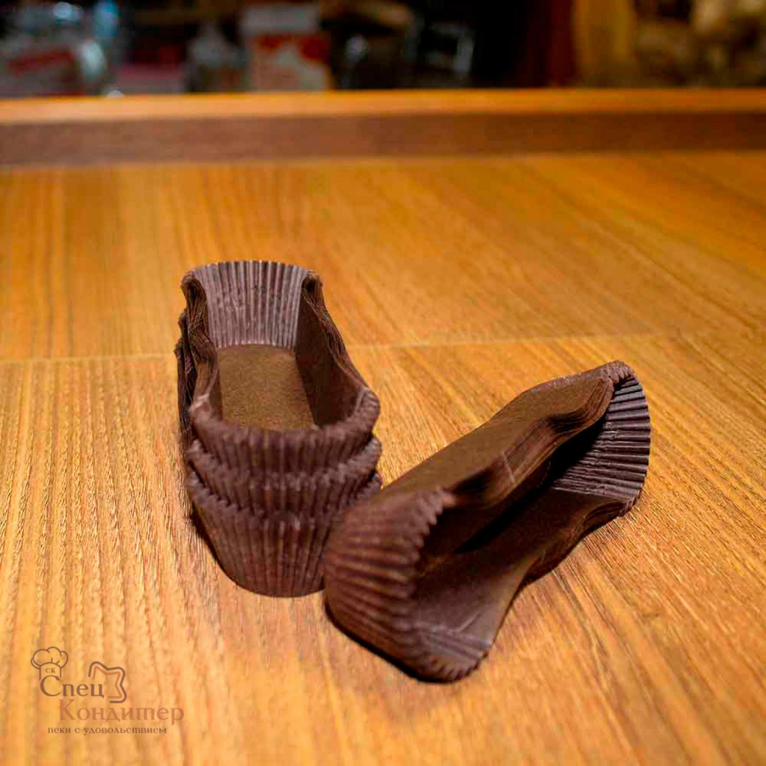 Тарталетки овал OV6 (коричневая), 28*110*26 мм, 100 шт/уп.