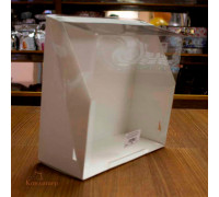 Короб для тортов с прозрачной крышкой 225х225х100 мм