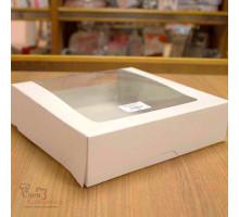 Короб для тортов с окном 225х225х60 мм
