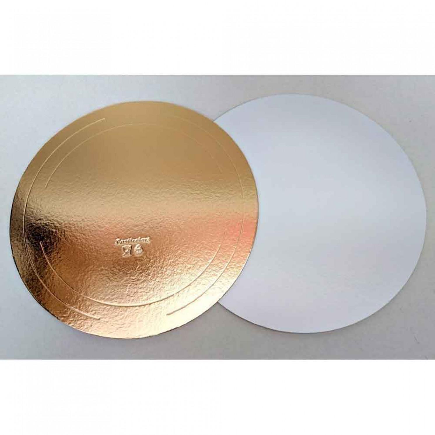 Подложка усиленная золото/жемчуг D 300 мм ( Толщина 3,2 мм )
