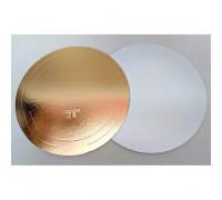Подложка усиленная золото/жемчуг D 240 мм ( Толщина 3,2 мм )