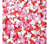 "Посыпки ""Сердечки красно-бело-розовые""(мини) 50 г."