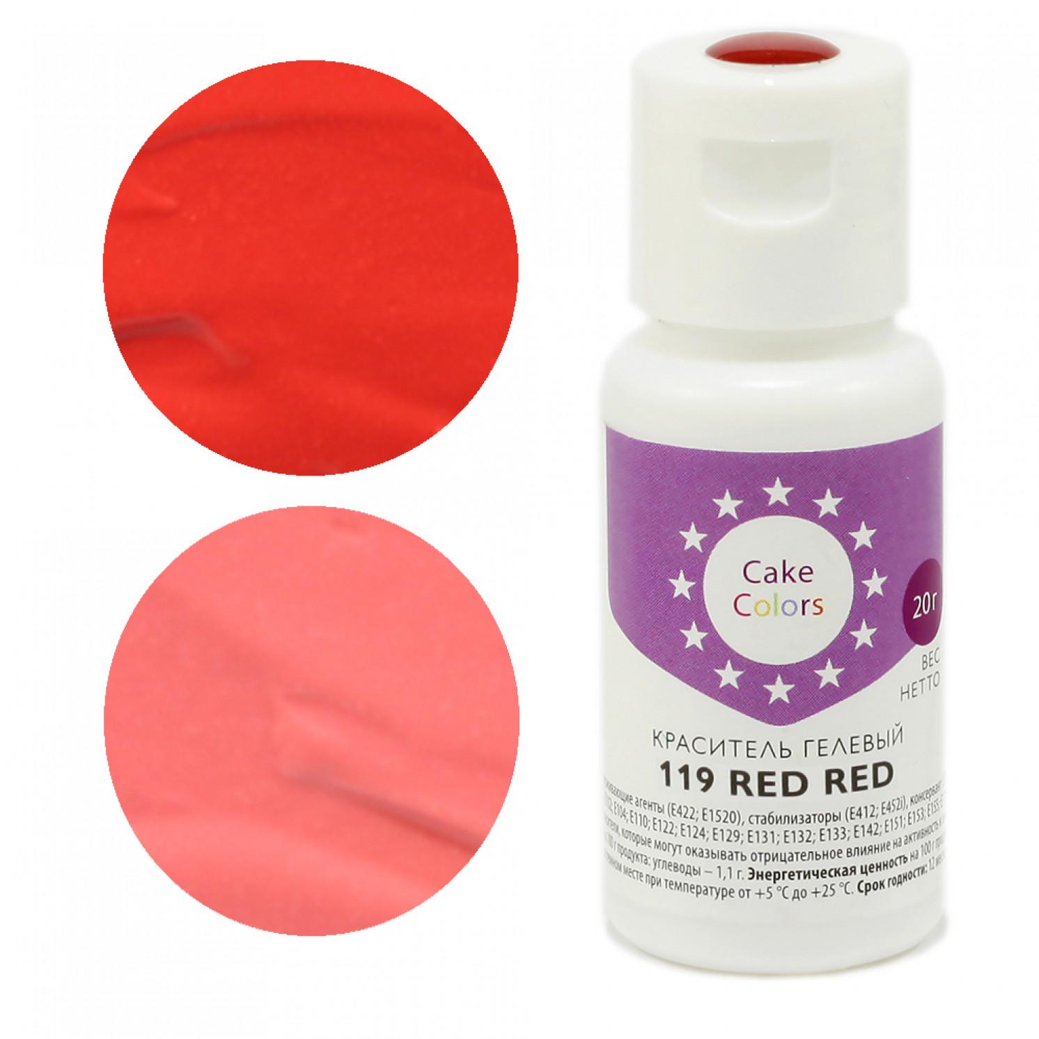 Краситель гелевый Cake Colors 119 RED RED, 20г