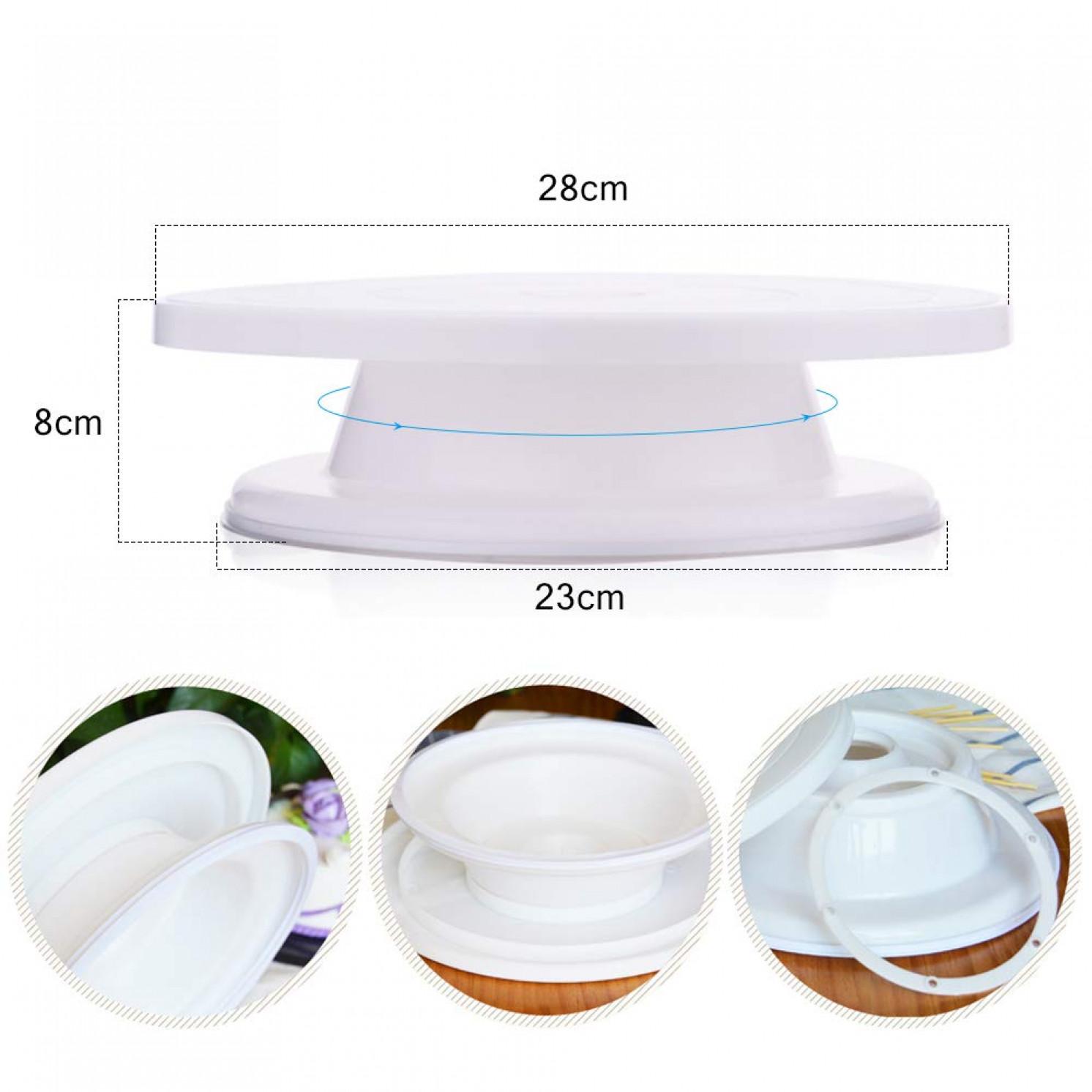 Подставка для торта вращающаяся 28х9 см (пластик)