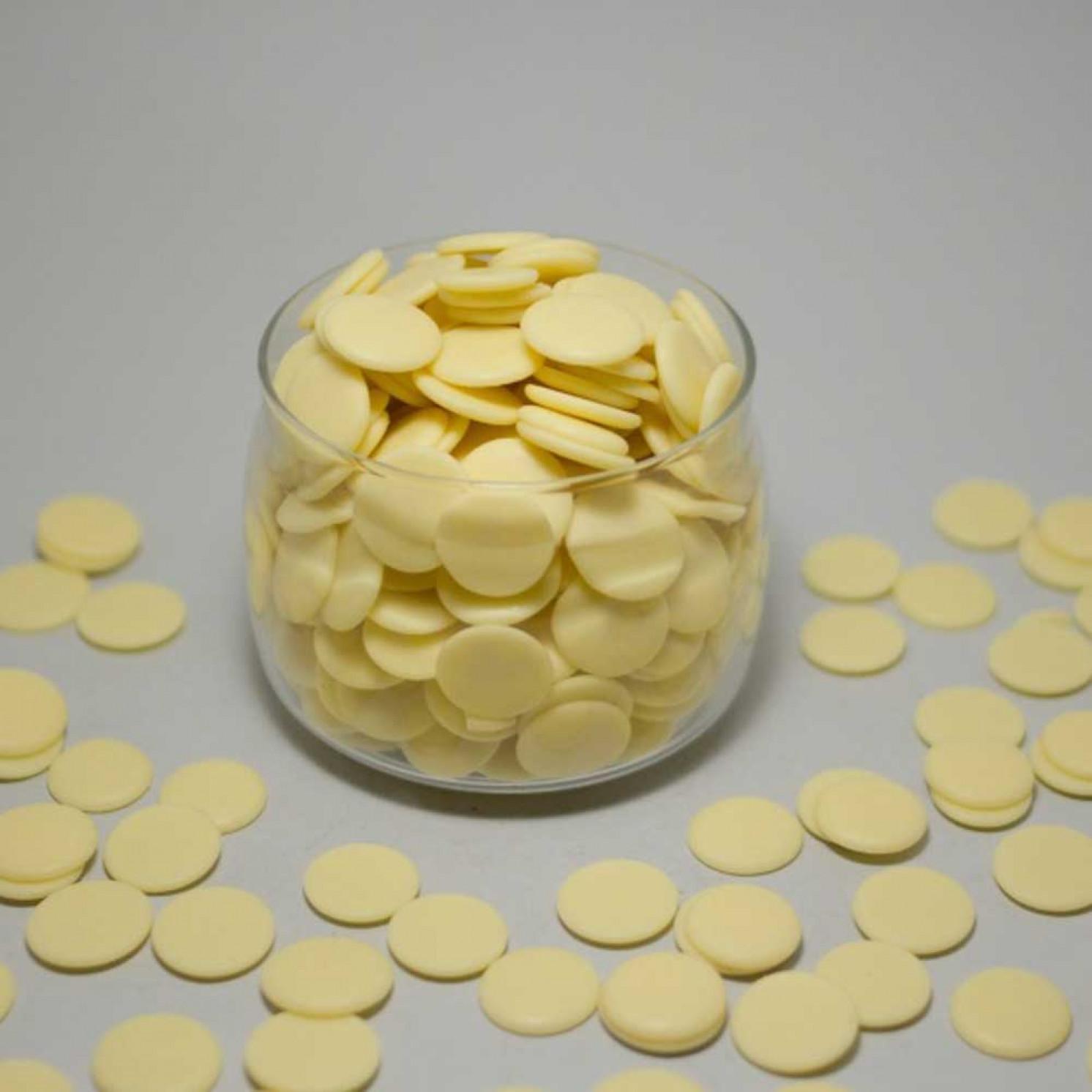 Шоколад белый в дисках 30 %, DGF 200 г