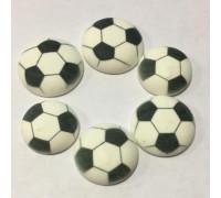Сахарные фигурки Футбольный мяч 27 мм 6 шт