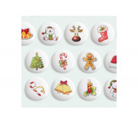 Сахарные Фигурки Новогодние игрушки, 27 мм 6 шт