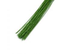 Проволока в бумажной обмотке пучок 100 шт, 36 см D=0,35мм ;№ 28 Светло-зеленая
