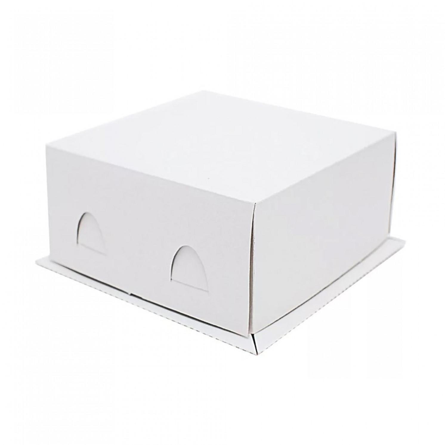 Короб картонный белый 210х210х100 мм