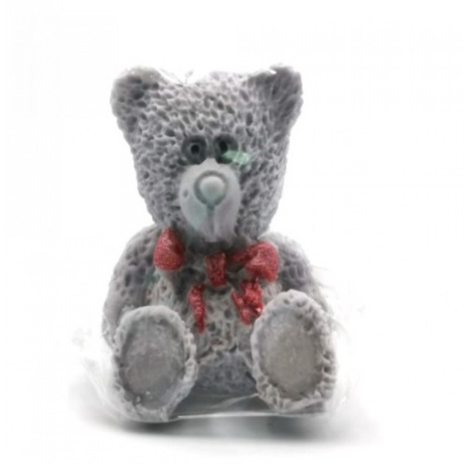 Сахарные фигурки Медвежонок серый, 40*40*50 мм