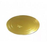Подложка усиленная золото D 340 мм ( Толщина 2,5 мм )