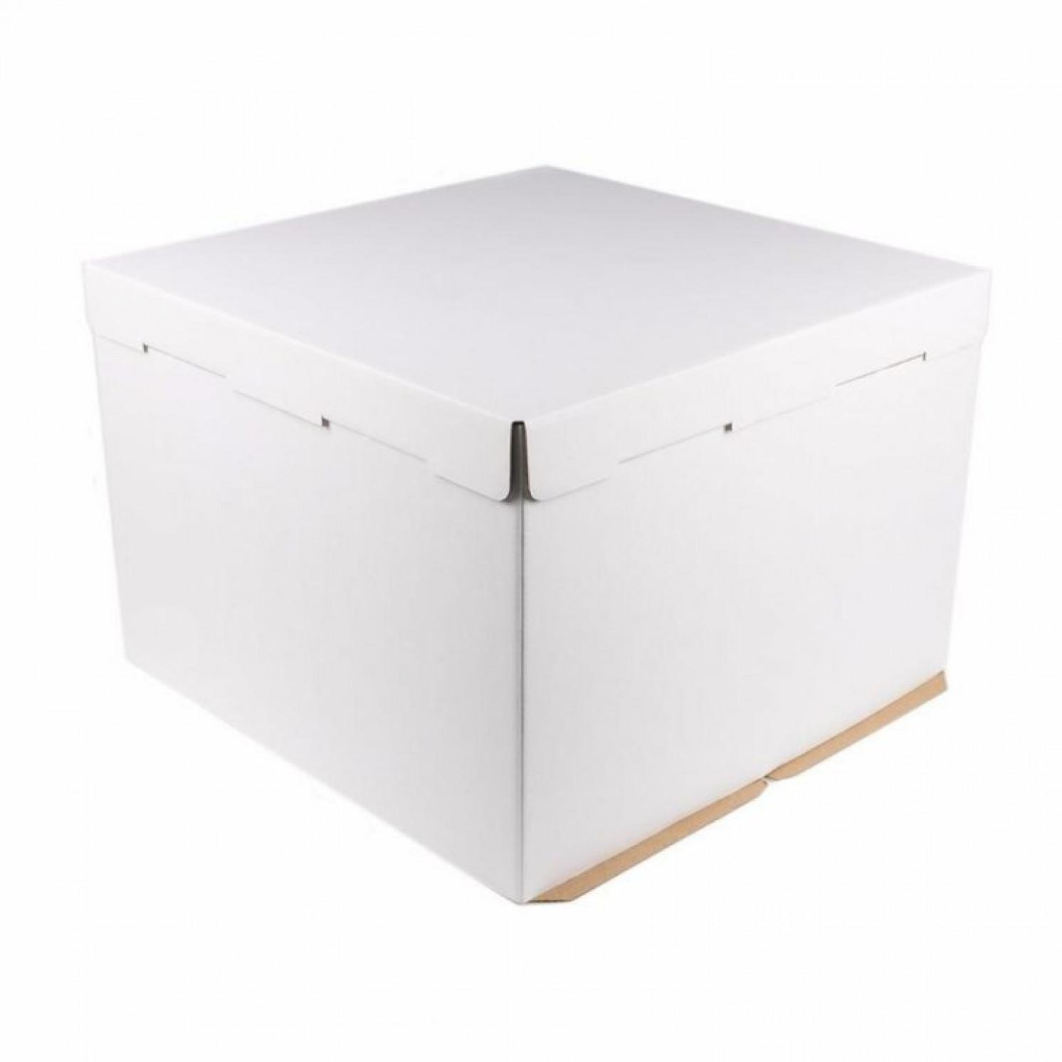 Короб картонный белый 360х360х260 мм, усиленный (гофра)