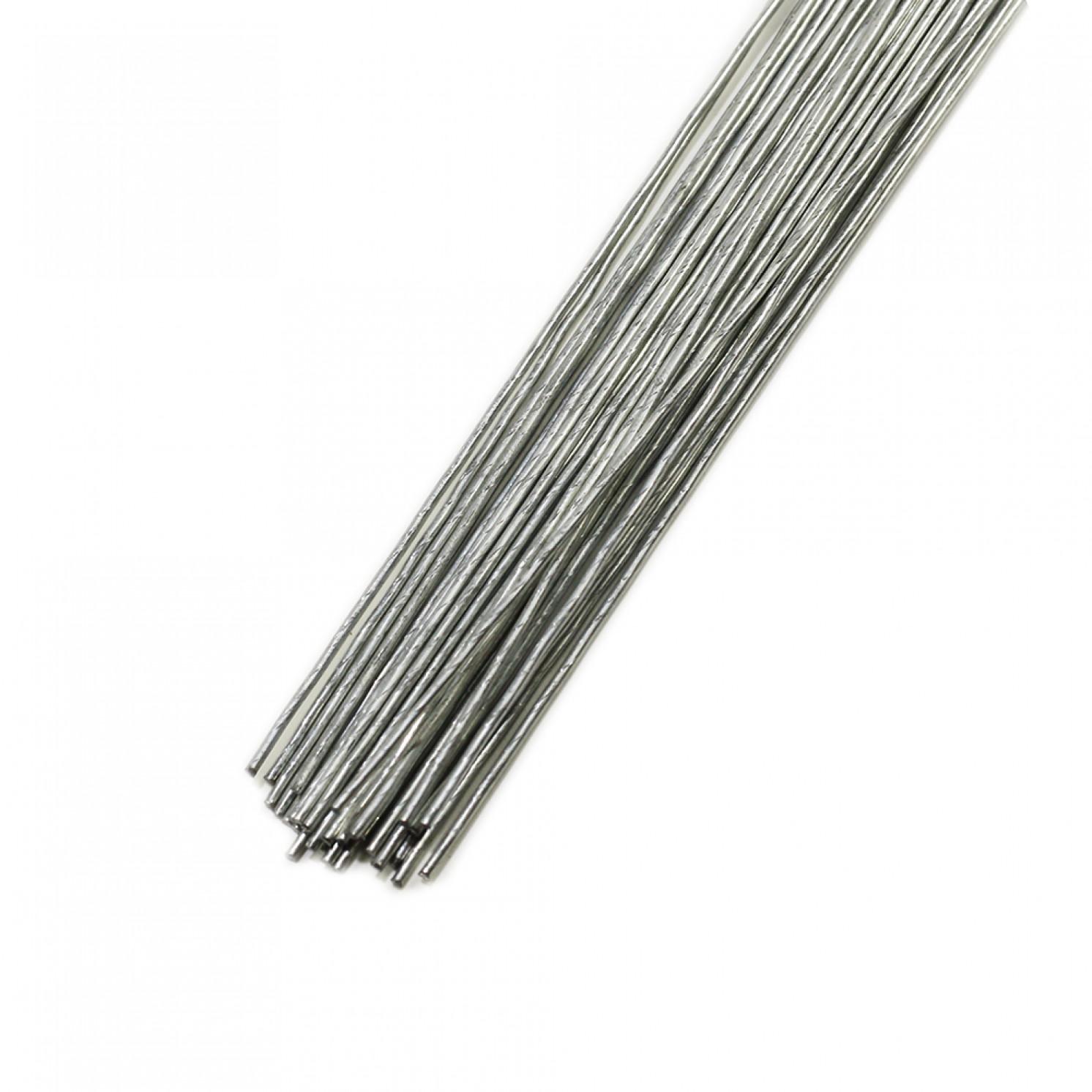 Проволока пучок 100 шт, 36 см D=0,35мм ;№ 28 Серебряная