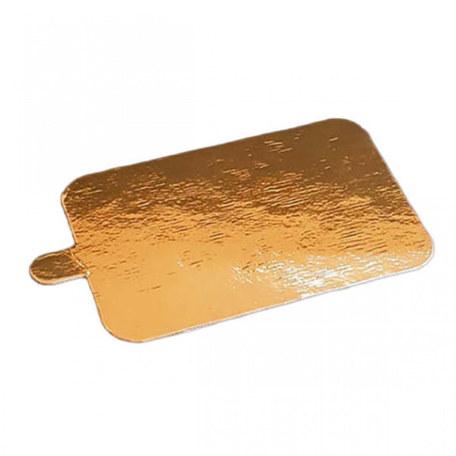 Подложка золото с держателем прямоугольник 100х65мм (толщина 0,8 мм)