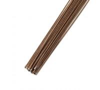 Проволока в бумажной обмотке пучок 30 шт, 36 см D=1,2мм ;№ 18 Коричневая