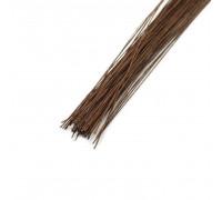 Проволока в бумажной обмотке 36 см D=0,45мм ;№ 26 коричневая, 100 шт/уп
