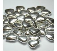 Сердечки шоколадные серебряные, 50 г