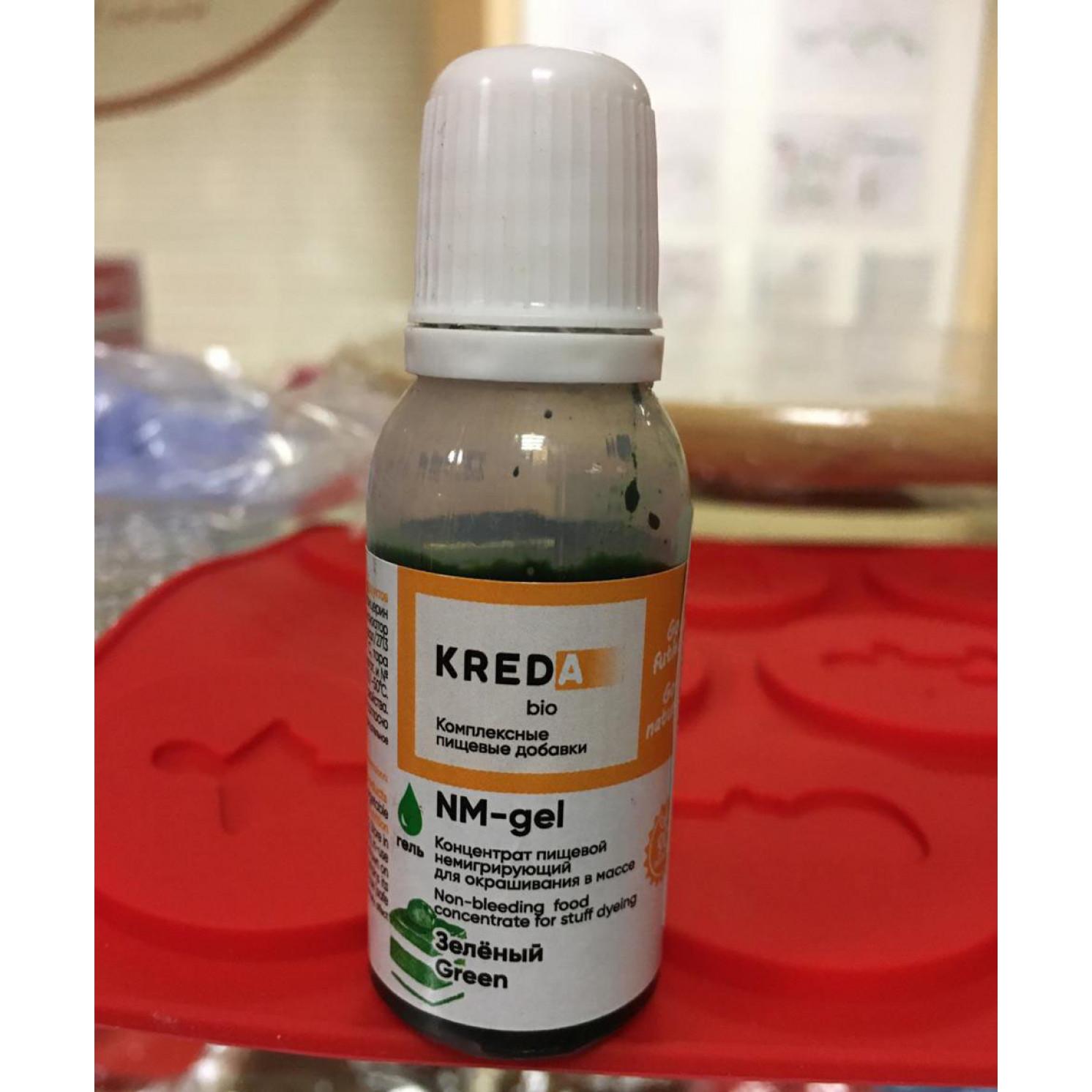"""Краситель пищевой гелевый """"Kreda"""", цвет зелёный 20 мл"""