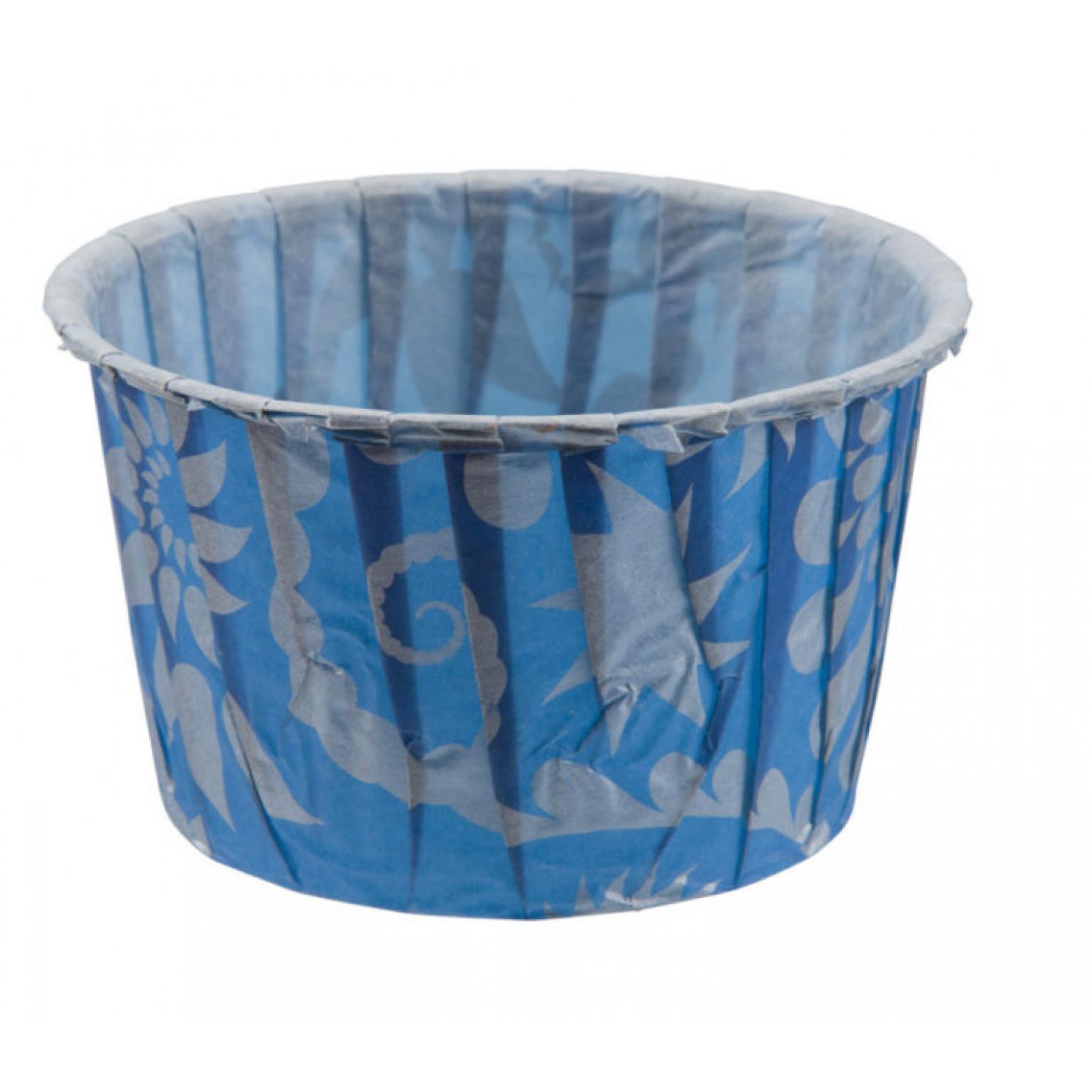 """Форма бумажная """"Маффин"""" 50*40 мм, цвет синий, 50 шт/упак."""